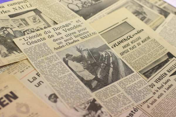 articles de presse d'époque