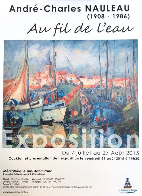 affiche d'exposition Nauleau à Fontenay le Comte