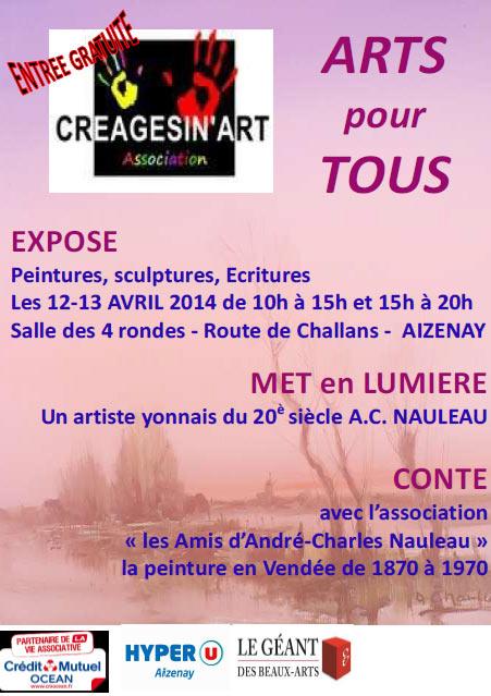 affiche de l'exposition creagesinart