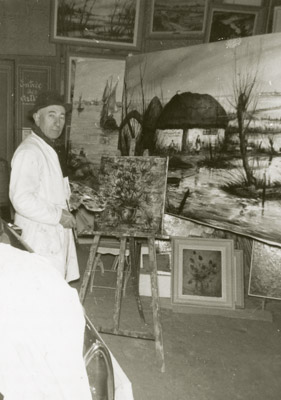 1965 photo à l'atelier