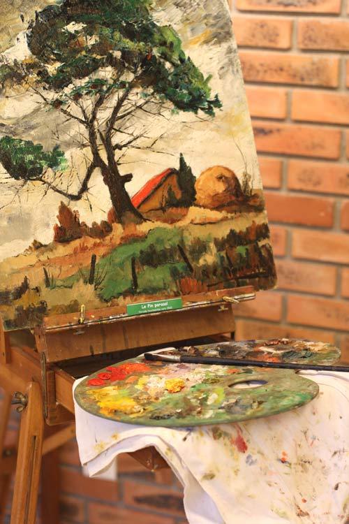 le pin parasol tableau du peintre vendeen