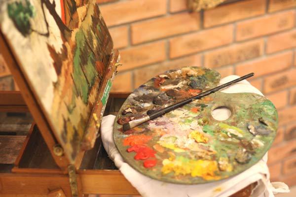 la palette du celebre peintre vendeen