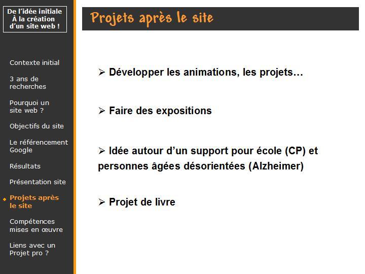 projets de l'association