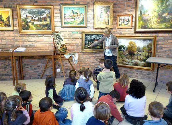 presentation de l'exposition aux enfants