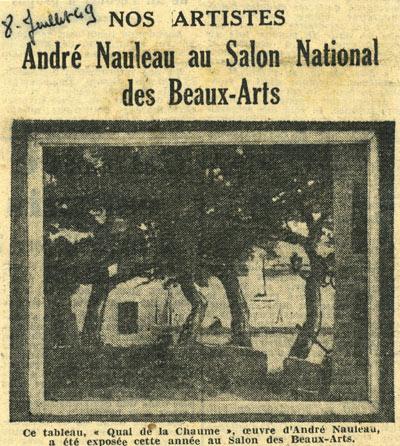 article ouest france pour annoncer Nauleau au salon national des beaux arts