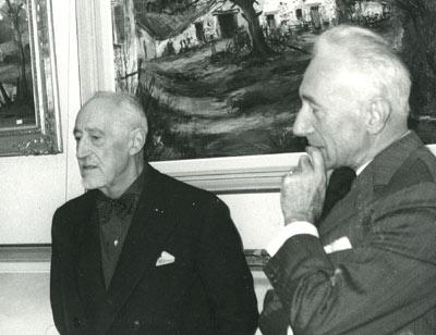 Marcel Chabot lors du vernissage de l'exposition