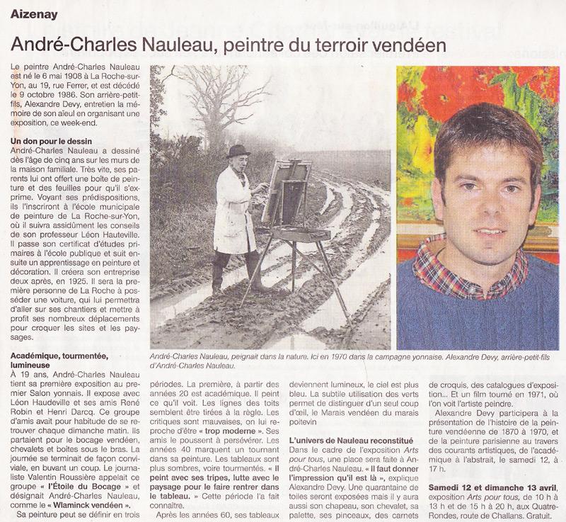 article dans le journal ouest-france