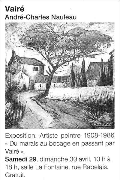 Article Ouest-France annonçant l'exposition