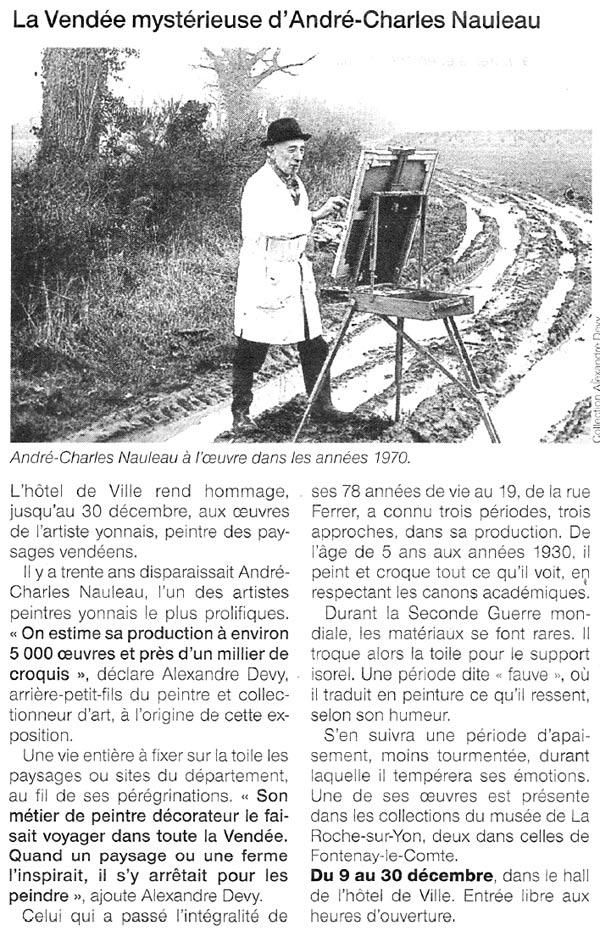 Article sur le peintre français Nauleau Ouest France