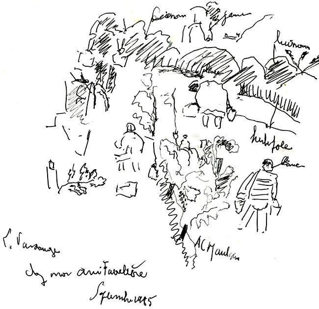 dessin réalisé par l'artiste hémiplégique