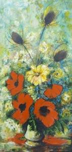 bouquet de pavots tableau nauleau