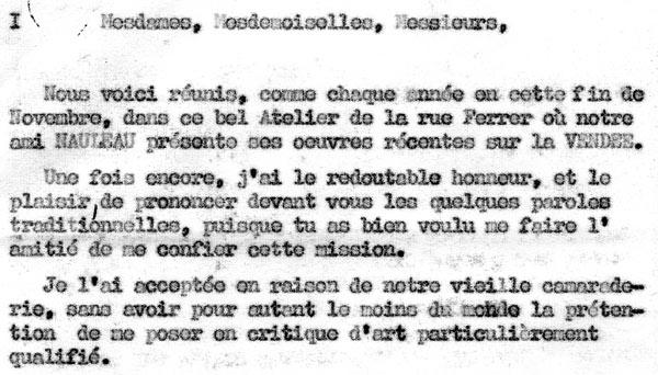 Discours d'Amédée Pellen ami du peintre
