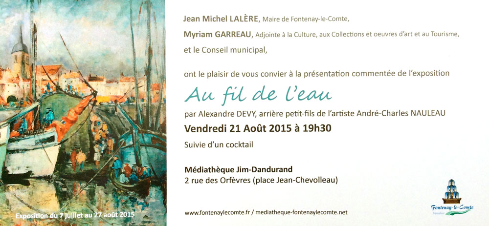 carton d'invitation exposition nauleau