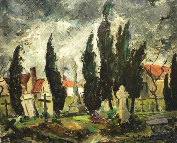 Tableau d'un cimetière