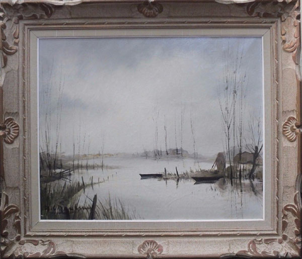le marais blanc par le célèbre peintre vendéen