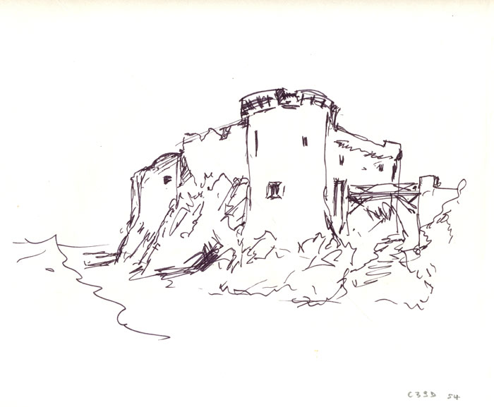 dessins le vieux chateau de l'ile d'yeu