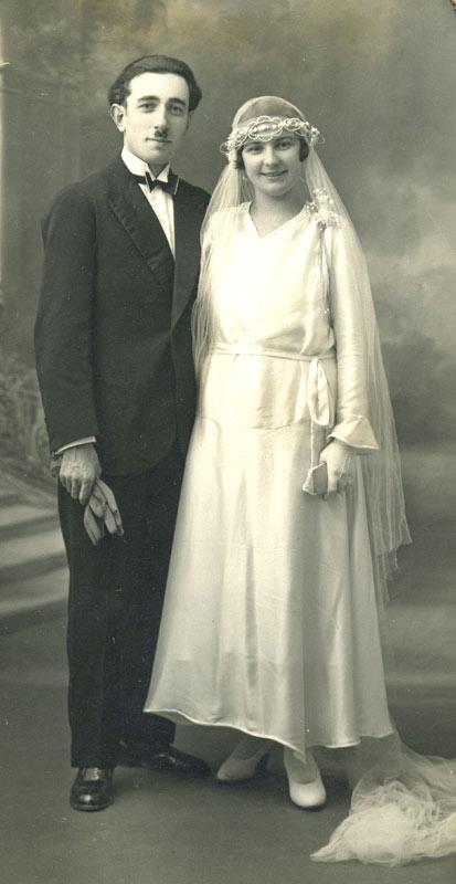 André-Charles et Henriette le jour du mariage à la roche sur yon