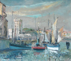 les bateaux à quai au port de la chaume