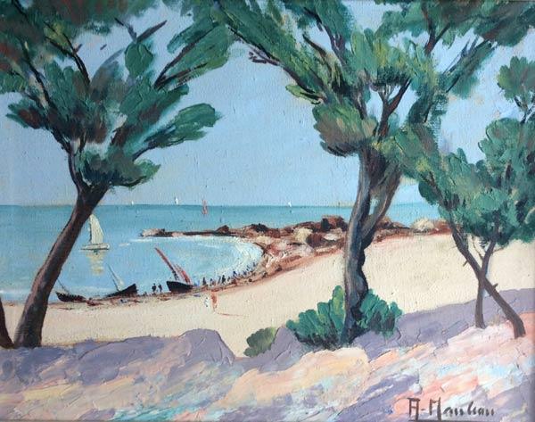 un nouveau tableau référencé par l'association des amis du peintre ac nauleau