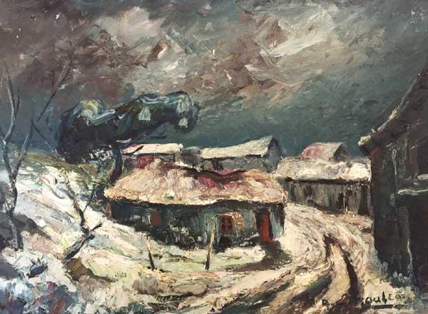 paysage de neige en vendée
