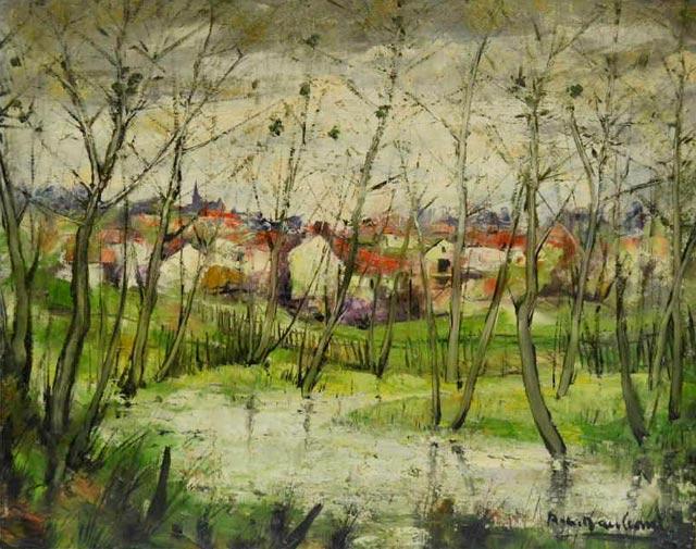 Paysage de Vendée, huile sur toile