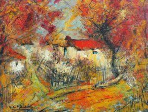 tableau de la période jaune du peintre nauleau