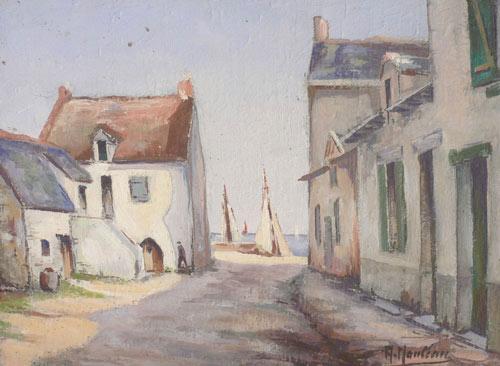 tableau du célèbre peintre Nauleau, connu pour ses marines