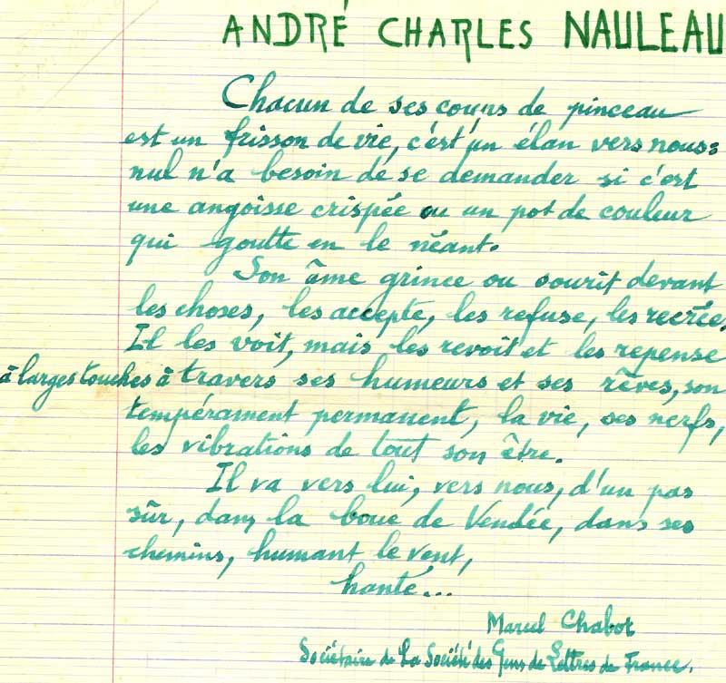 poème de Marcel Chabot
