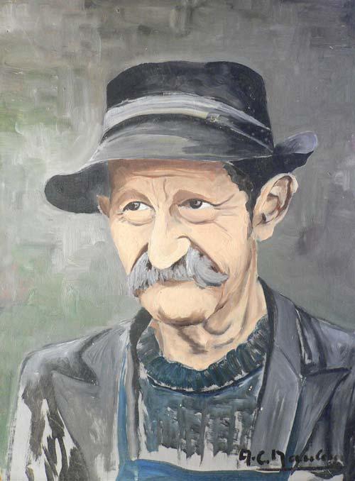 portrait d'un boquin habitant du bocage en vendée